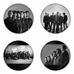 Linkin Park button badge 1.75 inch custom backside 4 type Pinback, Magnet, Mirror or Keychain. Get 4 in package [6]