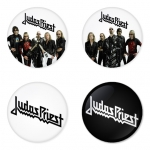Judas Priest button badge 1.75 inch custom backside 4 type Pinback, Magnet, Mirror or Keychain. Get 4 in package [6]
