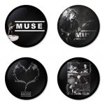 Muse button badge 1.75 inch custom backside 4 type Pinback, Magnet, Mirror or Keychain. Get 4 in package [8]