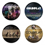 Coldplay button badge 1.75 inch custom backside 4 type Pinback, Magnet, Mirror or Keychain. Get 4 in package [18]