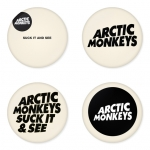 Arctic Monkeys button badge 1.75 inch custom backside 4 type Pinback, Magnet, Mirror or Keychain. Get 4 in package [1]