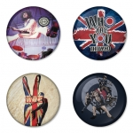 The Who button badge 1.75 inch custom backside 4 type Pinback, Magnet, Mirror or Keychain. Get 4 in package [3]