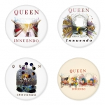 Queen button badge 1.75 inch custom backside 4 type Pinback, Magnet, Mirror or Keychain. Get 4 in package [4]