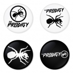 The Prodigy button badge 1.75 inch custom backside 4 type Pinback, Magnet, Mirror or Keychain. Get 4 in package [6]