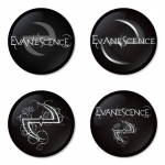 Evanescence button badge 1.75 inch custom backside 4 type Pinback, Magnet, Mirror or Keychain. Get 4 in package [12]