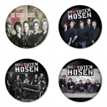 Die Toten Hosen button badge 1.75 inch custom backside 4 type Pinback, Magnet, Mirror or Keychain. Get 4 in package [5]