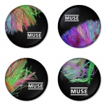 Muse button badge 1.75 inch custom backside 4 type Pinback, Magnet, Mirror or Keychain. Get 4 in package [14]