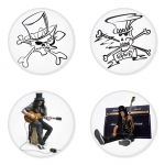 Slash button badge 1.75 inch custom backside 4 type Pinback, Magnet, Mirror or Keychain. Get 4 in package [1]