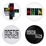 Arctic Monkeys button badge 1.75 inch custom backside 4 type Pinback, Magnet, Mirror or Keychain. Get 4 in package [2]