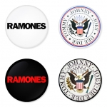 Ramones button badge 1.75 inch custom backside 4 type Pinback, Magnet, Mirror or Keychain. Get 4 in package [20]