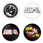 Sum41 button badge 1.75 inch custom backside 4 type Pinback, Magnet, Mirror or Keychain. Get 4 in package [6]