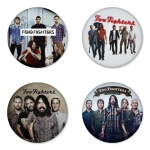 Foo Fighters button badge 1.75 inch custom backside 4 type Pinback, Magnet, Mirror or Keychain. Get 4 in package [8]