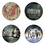 Korn button badge 1.75 inch custom backside 4 type Pinback, Magnet, Mirror or Keychain. Get 4 in package [3]
