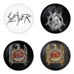Slayer button badge 1.75 inch custom backside 4 type Pinback, Magnet, Mirror or Keychain. Get 4 in package [1]