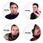 Papa Roach button badge 1.75 inch custom backside 4 type Pinback, Magnet, Mirror or Keychain. Get 4 in package [2]
