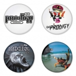 The Prodigy button badge 1.75 inch custom backside 4 type Pinback, Magnet, Mirror or Keychain. Get 4 in package [1]