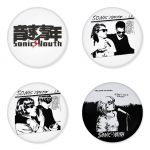 Sonic Youth button badge 1.75 inch custom backside 4 type Pinback, Magnet, Mirror or Keychain. Get 4 in package [3]