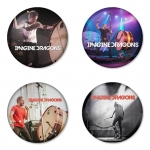 Imagine Dragon button badge 1.75 inch custom backside 4 type Pinback, Magnet, Mirror or Keychain. Get 4 in package [4]