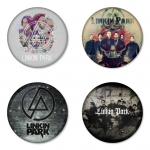 Linkin Park button badge 1.75 inch custom backside 4 type Pinback, Magnet, Mirror or Keychain. Get 4 in package [10]