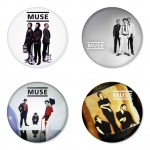 Muse button badge 1.75 inch custom backside 4 type Pinback, Magnet, Mirror or Keychain. Get 4 in package [6]