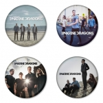 Imagine Dragon button badge 1.75 inch custom backside 4 type Pinback, Magnet, Mirror or Keychain. Get 4 in package [5]