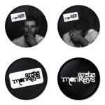 Arctic Monkeys button badge 1.75 inch custom backside 4 type Pinback, Magnet, Mirror or Keychain. Get 4 in package [3]