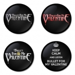 Bullet for my Valentine button badge 1.75 inch custom backside 4 type Pinback, Magnet, Mirror or Keychain. Get 4 in package [4]