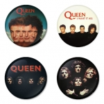 Queen button badge 1.75 inch custom backside 4 type Pinback, Magnet, Mirror or Keychain. Get 4 in package [1]