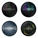 Evanescence button badge 1.75 inch custom backside 4 type Pinback, Magnet, Mirror or Keychain. Get 4 in package [14]