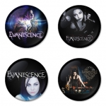 Evanescence button badge 1.75 inch custom backside 4 type Pinback, Magnet, Mirror or Keychain. Get 4 in package [4]