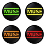 Muse button badge 1.75 inch custom backside 4 type Pinback, Magnet, Mirror or Keychain. Get 4 in package [15]