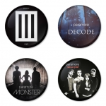 Paramore button badge 1.75 inch custom backside 4 type Pinback, Magnet, Mirror or Keychain. Get 4 in package [5]
