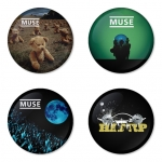 Muse button badge 1.75 inch custom backside 4 type Pinback, Magnet, Mirror or Keychain. Get 4 in package [2]