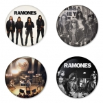 Ramones button badge 1.75 inch custom backside 4 type Pinback, Magnet, Mirror or Keychain. Get 4 in package [18]