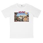 AC/DC rock band t shirts white tees cotton 100 S M L XL XXL [7]