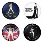 Queen button badge 1.75 inch custom backside 4 type Pinback, Magnet, Mirror or Keychain. Get 4 in package [2]