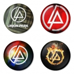 Linkin Park button badge 1.75 inch custom backside 4 type Pinback, Magnet, Mirror or Keychain. Get 4 in package [4]