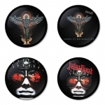 Judas Priest button badge 1.75 inch custom backside 4 type Pinback, Magnet, Mirror or Keychain. Get 4 in package [3]