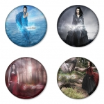 Evanescence button badge 1.75 inch custom backside 4 type Pinback, Magnet, Mirror or Keychain. Get 4 in package [3]