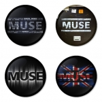 Muse button badge 1.75 inch custom backside 4 type Pinback, Magnet, Mirror or Keychain. Get 4 in package [4]
