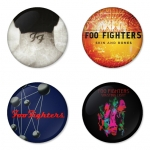 Foo Fighters button badge 1.75 inch custom backside 4 type Pinback, Magnet, Mirror or Keychain. Get 4 in package [3]