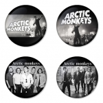 Arctic Monkeys button badge 1.75 inch custom backside 4 type Pinback, Magnet, Mirror or Keychain. Get 4 in package [11]