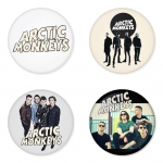Arctic Monkeys button badge 1.75 inch custom backside 4 type Pinback, Magnet, Mirror or Keychain. Get 4 in package [10]