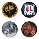 The Who button badge 1.75 inch custom backside 4 type Pinback, Magnet, Mirror or Keychain. Get 4 in package [4]