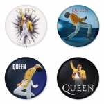 Queen button badge 1.75 inch custom backside 4 type Pinback, Magnet, Mirror or Keychain. Get 4 in package [3]