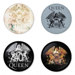 Queen button badge 1.75 inch custom backside 4 type Pinback, Magnet, Mirror or Keychain. Get 4 in package [8]