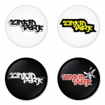 Linkin Park button badge 1.75 inch custom backside 4 type Pinback, Magnet, Mirror or Keychain. Get 4 in package [3]