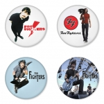 Foo Fighters button badge 1.75 inch custom backside 4 type Pinback, Magnet, Mirror or Keychain. Get 4 in package [9]