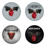 Papa Roach button badge 1.75 inch custom backside 4 type Pinback, Magnet, Mirror or Keychain. Get 4 in package [5]