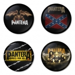 Pantera button badge 1.75 inch custom backside 4 type Pinback, Magnet, Mirror or Keychain. Get 4 in package [2]